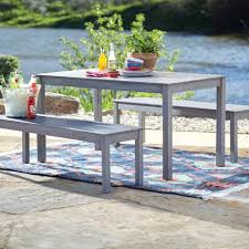 Outdoor Furniture 3 Piece by Gray San Pedro 3 Piece Outdoor Dining Furniture Set World Market