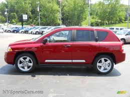 jeep compass limited red 2007 jeep compass limited 4x4 in inferno red crystal pearlcoat