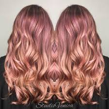 rose gold haircolor by studiovenica studiovenica on instagram