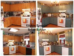 Remodeling Kitchen Cabinet Doors Before U0026 After Kitchen Remodel Slate Tile Countertops With Pewter