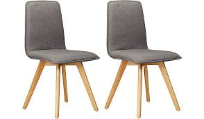 Grey Dining Chairs George Home Winston Upholstered Pair Of Dining Chairs Grey