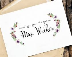 maker personalized thank you cards vintage concept