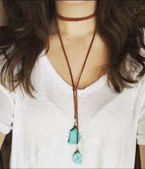 leather necklace tie images 52 best images long necklaces chocker and jpg