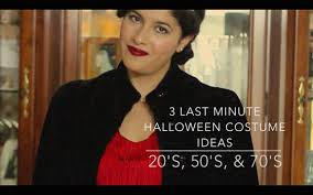 3 last minute halloween costume ideas 20 u0027s 50 u0027s and 70 u0027s youtube