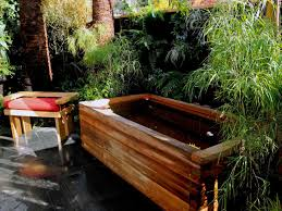 horjd rustic asian inspired outdoor bathtub s rend hgtvcom amys