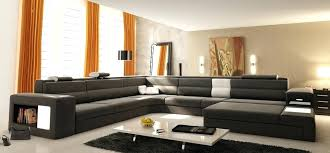 Brown Leather Sectional Sofa by Lounge 4 Pc Brown Bonded Leather Sectional Sofa With Recliners And