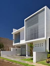 noticeable modern house exterior color idea using white with