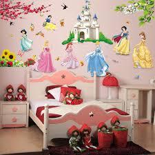 tickers chambre fille princesse château de bande dessinée princesse stickers muraux fille enfants