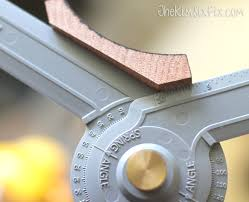 How To Cut Crown Moulding For Kitchen Cabinets How To Miter Crown Molding At Any Angle The Kim Six Fix