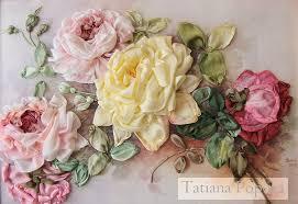 silk ribbon roses tutorial on silk ribbon roses
