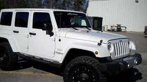 white jeep unlimited lifted 2012 wrangler unlimited sahara youtube