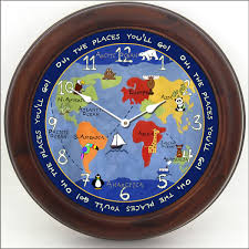 Kids World Map by Kids World Map Clock The Big Clock Store