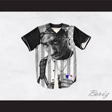 New Jersy Flag Tupac Shakur 13 New York Black And White American Flag Baseball Jersey