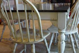 Painted Dining Room Sets Remodelaholic Kitchen Table Refinished With Distressed Look