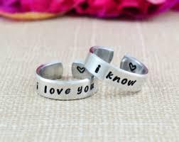 Star Wars Wedding Rings by Star Wars Ring Etsy