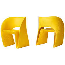 Yellow Chair Pair Of Raviolo Chairs By Ron Arad At 1stdibs