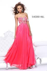 Awesome Prom Dresses Sherri Hill Strawberry Strapless Long Prom Dress