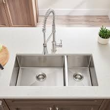 Pekoe Xinch Offset Double Bowl Kitchen Sink American Standard - American kitchen sinks