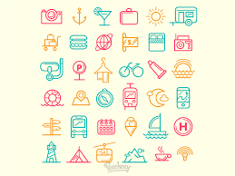 Traveling icons by peecheey dribbble
