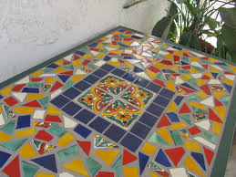Mexican Patio Furniture Sets Talavera Tile Table Decorating With Talavera Tiles Pinterest