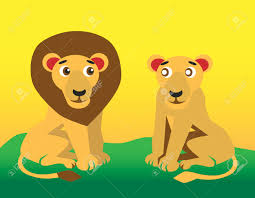 lion and lioness clipart clipartxtras