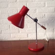 Red Desk Light Desk Lamp By J Hoogervorst For Anvia Almelo 1960s 55980