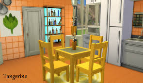 Sims 4 Furniture Sets Mod The Sims Dining Table And Chair Set In 12 Fluro Colours