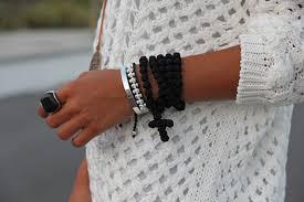 black prayer bracelet images Knits and knots the black prayer rope necklace jpg