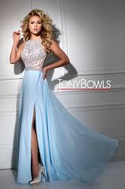 light blue dress tony bowls tb11663 prom dress prom gown tb11663