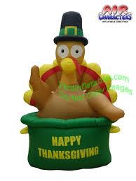 turkey inflatables turkey in pot