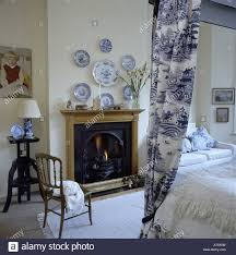 bedroom exquisite cool collection of blue and white plates above