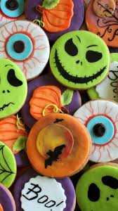 download wallpaper 750x1334 halloween cookies holiday