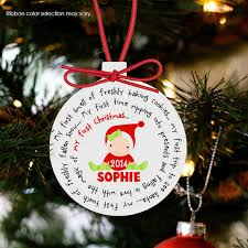 personalized christmas ornaments baby baby s christmas ornament personalized for a girl or