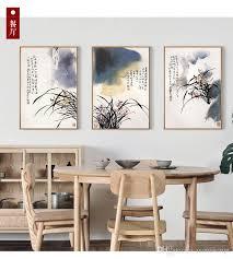 pittura sala da pranzo acquista pittura a inchiostro orchidea nuovo soggiorno cinese