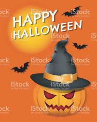 happy halloween text art halloween pumpkin illustration for happy halloween card design