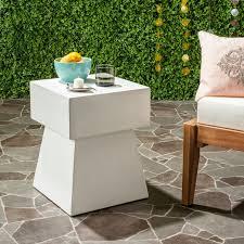ivory accent table safavieh zen mushroom concrete accent table ivory vnn1000b