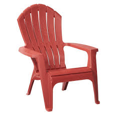 realcomfort brickstone red patio adirondack chair 8371 95 4300
