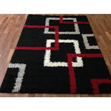 wonderful black red and white area rugs rug designs in popular