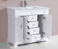 40 Bathroom Vanities 40 Balboa White Single Traditional Bathroom Vanity With