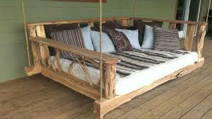 brilliant porch swing bed refurbished ideas pertaining to wood