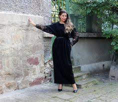 black maxi dress caftan hand painted dress plus size dress
