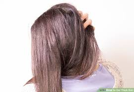 getting fullness on the hair crown 3 ways to get thick hair wikihow