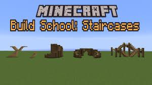 Minecraft Stairs Design Minecraft Build School Staircases