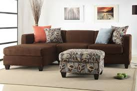 Microfiber Reversible Chaise Sectional Sofa Modern Small Chocolate Microfiber Sectional Sofa Set Reversible Chaise