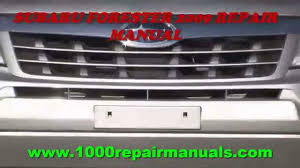 subaru forester 2009 repair manual youtube