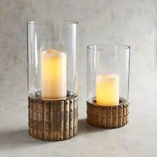 Hurricane Candle Holders Wooden Base Glass Hurricane Candle Holders Pier 1 Imports