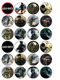 call of duty cake topper 24 x call of duty black ops edible wafer paper cake top toppers