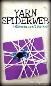 little family fun yarn spiderweb halloween craft for kids