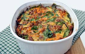 sausage and sweet potato breakfast casserole plaid paleo