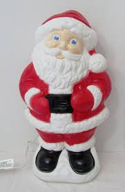 outdoor plastic lighted santa claus vintage 18 plastic santa lighted plastic blowmold outdoor christmas